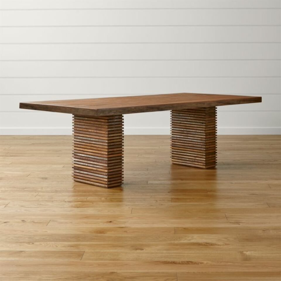 Paloma Ii Reclaimed Wood Dining Table Crate And Barrel Uae Crate And Barrel